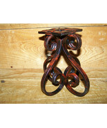 "Custom Hand Made Iron Steel Metal Scroll Heart 6"" Candle Holder Stand New - $38.00"