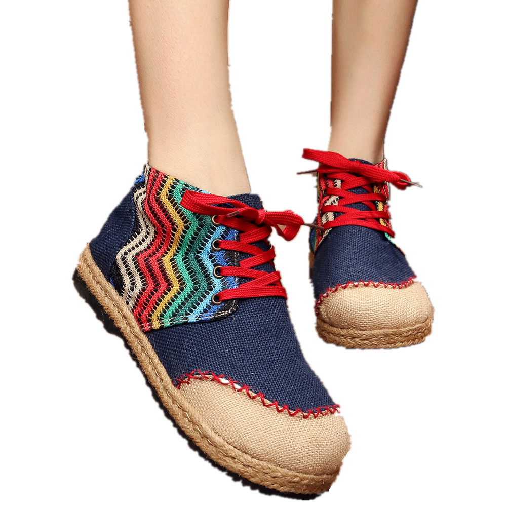Primary image for Chinese Cotton and linen national wind Embroidy Shoes embroidered Shoes