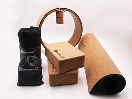 Ultimate Natural Cork & Rubber 8 Piece Yoga Set | Beginner to Pro, Every... - $67.73