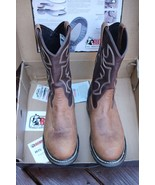 Rocky Branson Roper Aztec Crazyhorse and Brown Mens 11M Leather Work Boots - $148.48