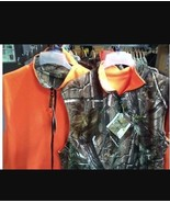 New Field Line Men's Orange Realtree AP Cozy Fleece Reversible Vest-Camo... - $39.59+