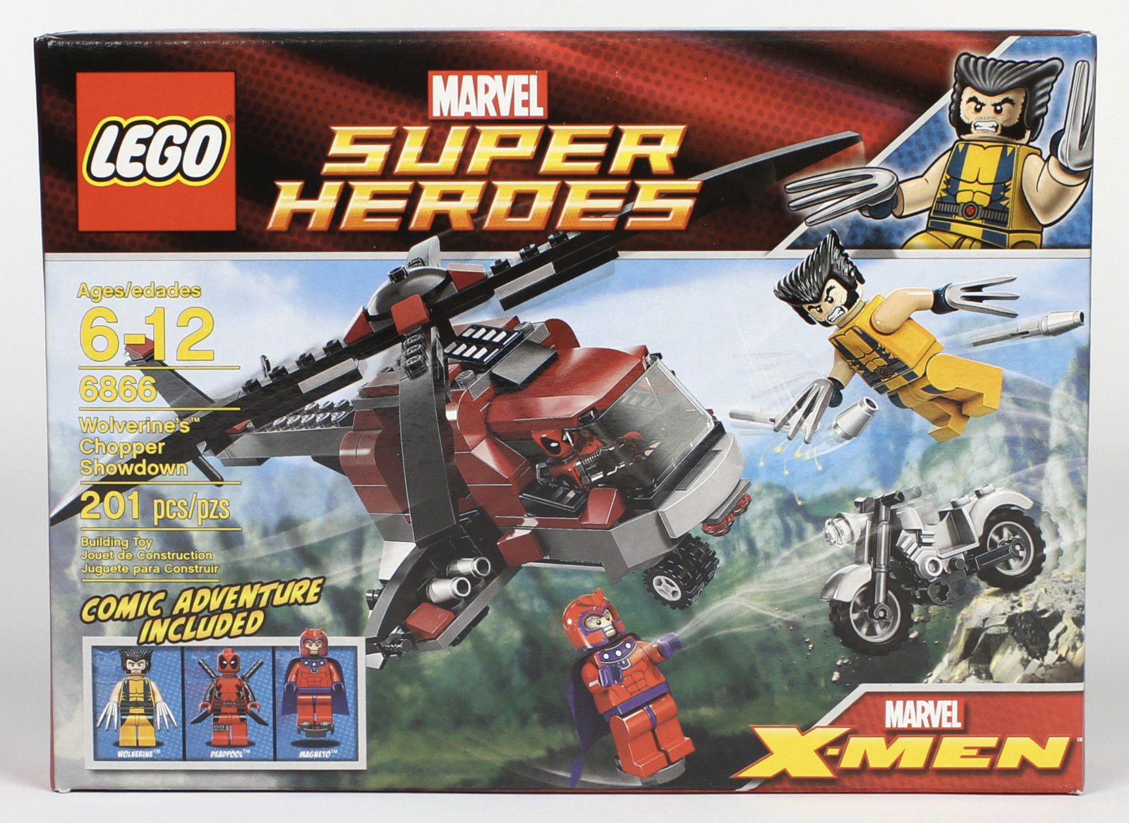 Lego Marvel X Men Super Heroes 6866 Wolverines Chopper Showdown