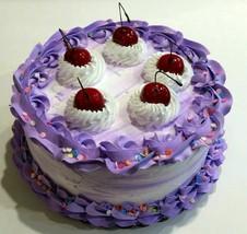 Large Fake Cake Purple & White Birthday Cake Prop  - $39.59