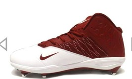 New Nike Zoom Code Elite 3/4 TD Football Cleats White/Crimson size 10.5 - $33.24