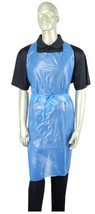 100 /pack Choice .50 Mil Blue Disposable Full Bib Poly Apron 42L x 24W  - $18.80