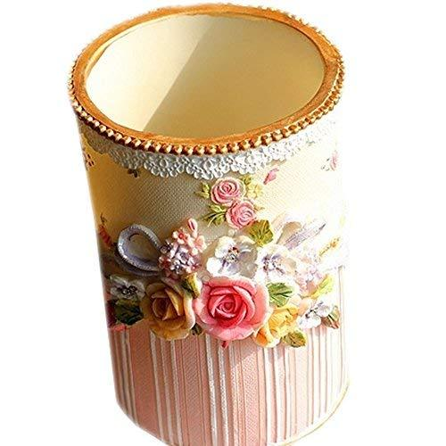 Rural Roses Painted Resin Makeup Brush With Receive Tube Style (Eight)