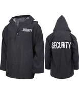 Black Double Sided Waterproof Security Hooded Rain Jacket - $23.99+