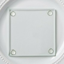Perfectly Plain Glass coasters Set of 20 Party Favors Table Decorations - $21.15