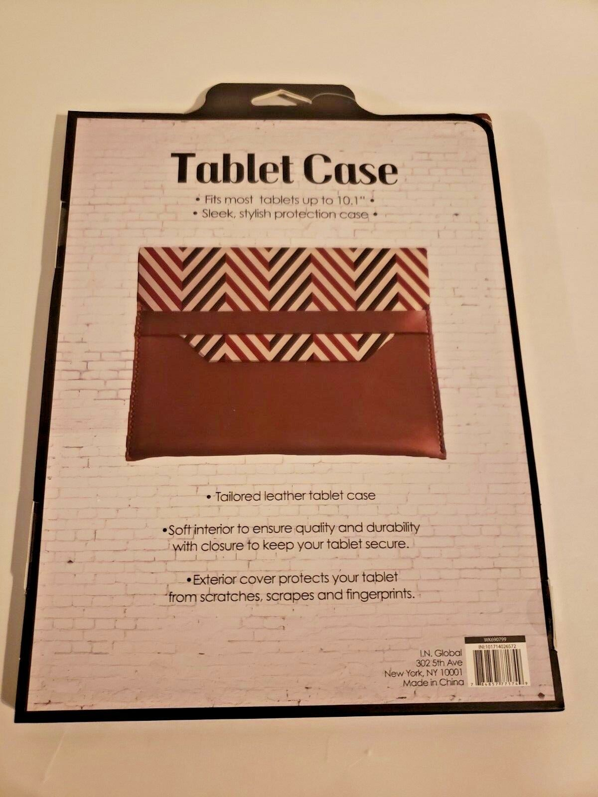 "Tailored Leather Tablet Case Fits Up To 10.1"" (Multicolor and brown) image 2"