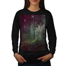 Deep Dark Forest Jumper Foggy Nature Women Sweatshirt - $18.99
