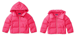 Ralph Lauren Childrenswear Girls Quilted Hooded Jacket, Neon Pink, Size L 12-14. - $94.03 CAD
