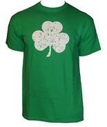 Retro Green Irish Distressed Shamrock T-shirt St Patricks Day Mens Irela... - $12.99+