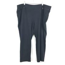 Lane Bryant Womens Plus Size 26 / 28 Black Cropped Ankle Ponte Pants Stretch - $23.36