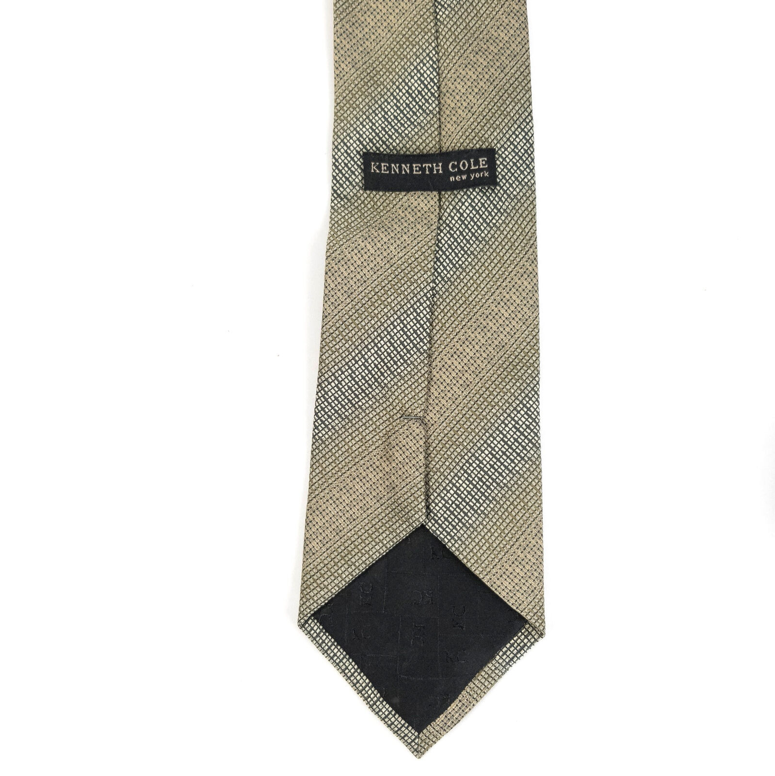 Kenneth Cole New York Green Geometric Silk Necktie Tie image 4