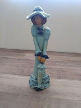 Japan UCTCI Girl Figurine Impressionist Blue  - $11.74