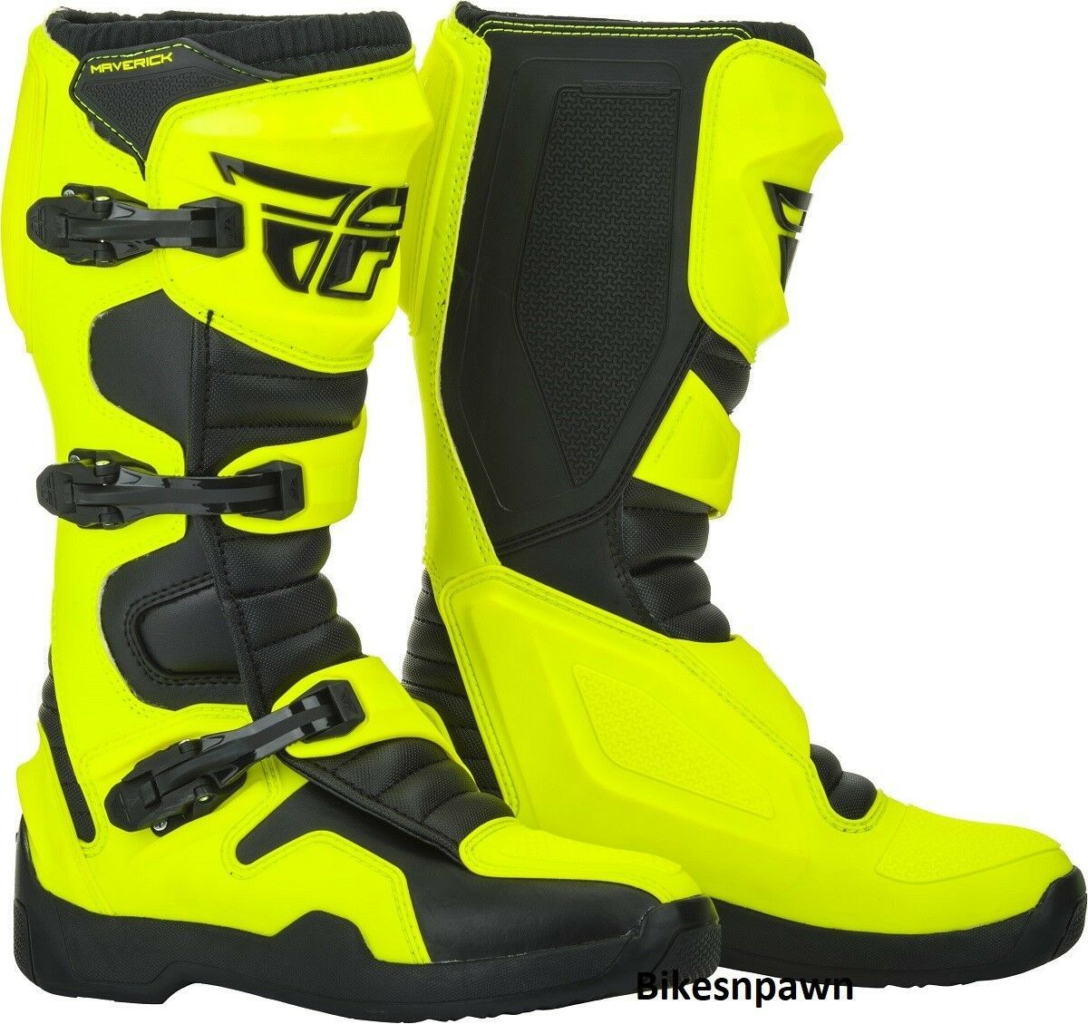 New 2019 Adult Size 8 Fly Racing Maverik Hi Viz & Black Motocross MX ATV Boots