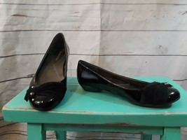 Womens Naturalizer Black Patent Leather Flats Comfort Shoes 8M Lift In Heel - $23.36