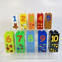 Lego Duplo Numbers Lot of 20 Number and Picture Blocks Play With Numbers... - $14.99