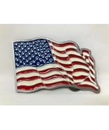 VTG Bergamot Foundry American Flag Belt Buckle USA Patriotic America Wav... - $44.54