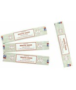 4 Satya Nag Champa White Sage Incense Sticks Oils 15g Thickness Baba San... - $11.87