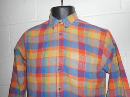 Vintage 90s Bright Colorful GAP Flannel Shirt Youth XL - $19.99