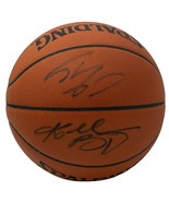 Kobe Bryant Shaquille O'Neal Signed Game Basketball PSA BAS WA29485 - $4,888.79