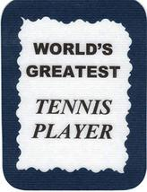 "World's Greatest Tennis Player 3"" x 4"" Love Note Sports Sayings Pocket Card, Gre - $2.69"