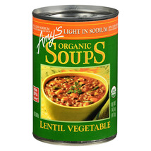 Amy's Organic Light In Sodium Lentil Vegetable Soups 14.5 oz ( Pack of 12 ) - $44.30