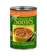 Amy's Organic Light In Sodium Lentil Vegetable Soups 14.5 oz ( Pack of 12 ) - $44.30