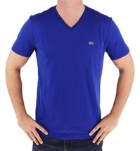 Lacoste Men's Sport Premium Pima Cotton V-Neck T-Shirt Blue size S
