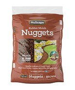 NuScape NS8ET Rubber Mulch Nuggets Ground Cover, Brown, 0.8 Cu.ft. - $43.13