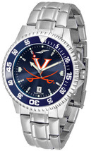 Virginia Cavaliers Men Competitor Steel AnoChrome Watch & Color Bezel - $109.25