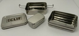 CLIF BAR Eco Lunch Box 3 In 1 Stainless Steel Nesting Bento Hiking Trave... - $24.91