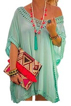 Shawhuwa Bathing Suit Cover Ups for Women Summer Half Sleeve Loose Tunic... - $20.57