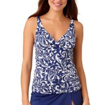 Liz Claiborne Mystique Cobalt Tankini Swimsuit Top Size XS, S, L Msrp $48.00  - $21.99