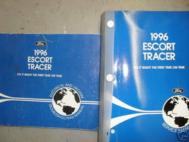 1996 FORD ESCORT & Mercury Tracer Service Shop Repair Manual Set W EVTM ... - $13.81