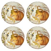 Harvest Pumpkin Heavyweight Melamine Dinner Plates, Set of 4 - $53.61