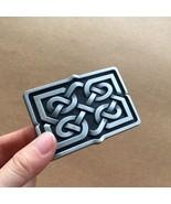 New Jean's Friend Original Celtic Cross Knot Rectangle Belt Buckle - $8.39