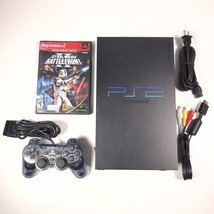 Sony PlayStation 2 PS2 Fat Console Original Controller W/ Star Wars BF 2... - $65.44