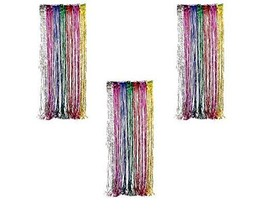 Ifavor123 Decorative Tinsel Foil Metallic Fringe Party Door Window Curta... - £13.13 GBP
