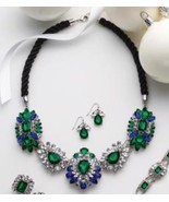 Sparkling royale necklace and earrings set thumbtall