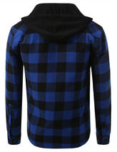 Shaka Wear Men's Casual Flannel Button Up Plaid Fleece Lightweight Jacket XL image 3