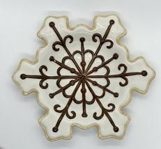 Department 56 Snowflake Christmas Cookie  Snowflake Plate White - $19.79