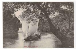Padda Barge on River Ceylon Sri Lanka 1910s postcard - $5.94