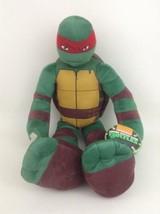 """Teenage Mutant Ninja Turtles LG 23"""" Raphael Plush Toy Playmates Nickelodeon Tags - $20.44"""