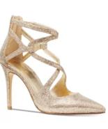 Michael Michael Kors Women Catia Glitter Silver/Sand Pumps Size 6.5 - $108.89