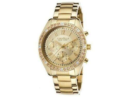 Women's Analog Display 44L151 Caravelle New York Quartz Champagne Dial Watch - $100.84