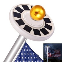 Sunix 30 LED Solar Flag Pole Lights, IP65 Weatherproof Flagpole Downligh... - $33.67
