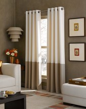 Curtainworks Kendall Color Block Grommet Curtain Panel, 120 inch, White - $13.66