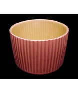 Red Wing Pottery Peach 5 in Planter 1546 Vase Pot Vertical Ribbed Salmon... - $31.95